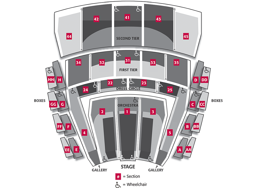 McCaw Hall Seating Chart by Rows