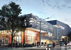 Exterior design for the 2018 Seattle Opera home. copyright NBBJ